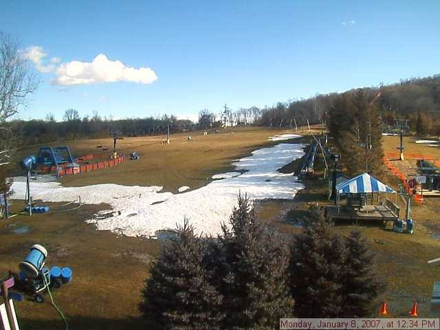 A view of Liberty Mountain, Pennsylvania before the snow