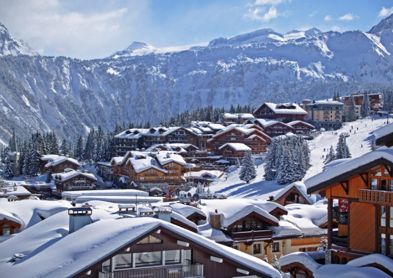 Luxe hotels in en om Courchevel in Frankrijk.