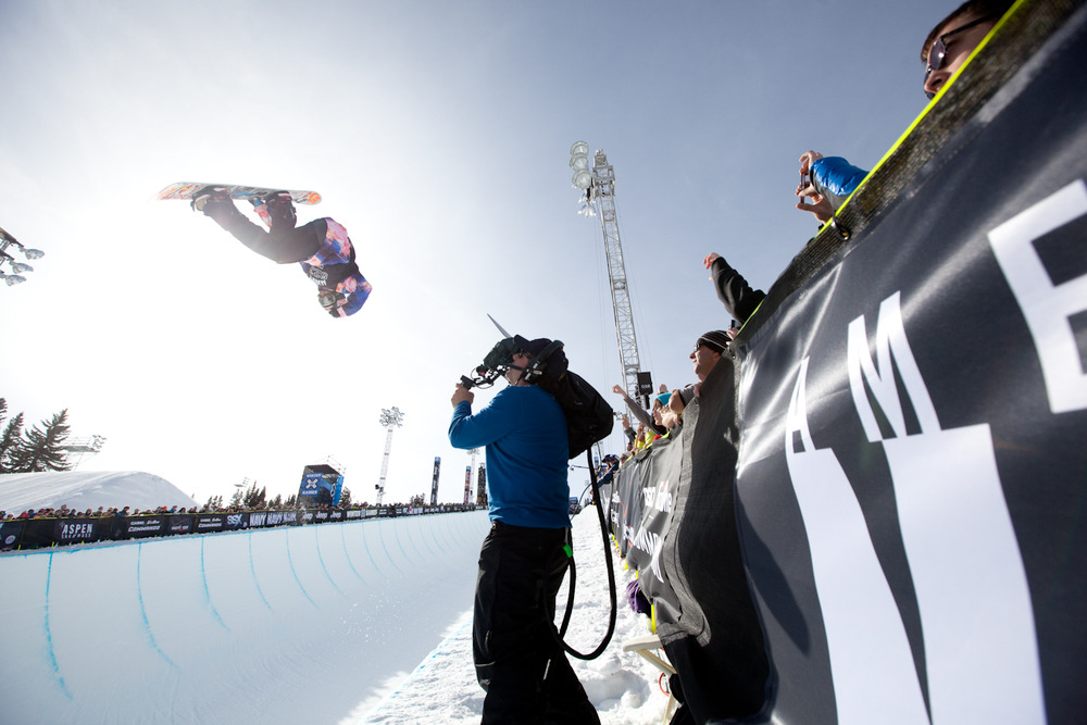 Superpipe snowboarding eliminations were held on Sunday afternoon. Photo by Sasha Coben