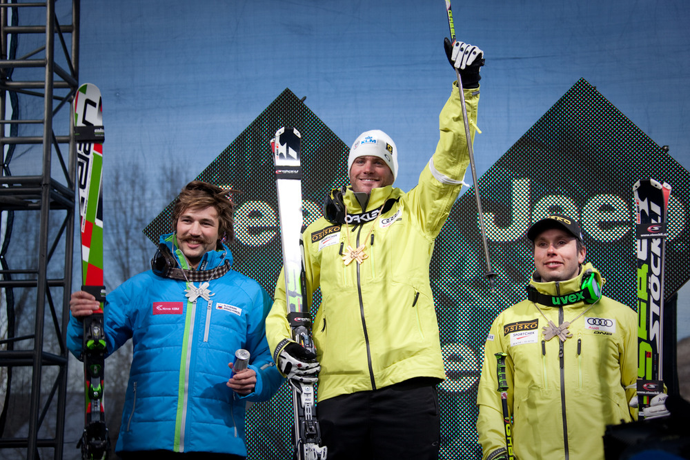 Men's Skier X podium. Photo by Sasha Coben