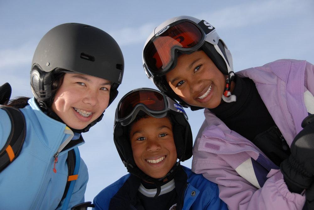 Kids take time to enjoy the fun at Sugar Bowl Ski Resort, California