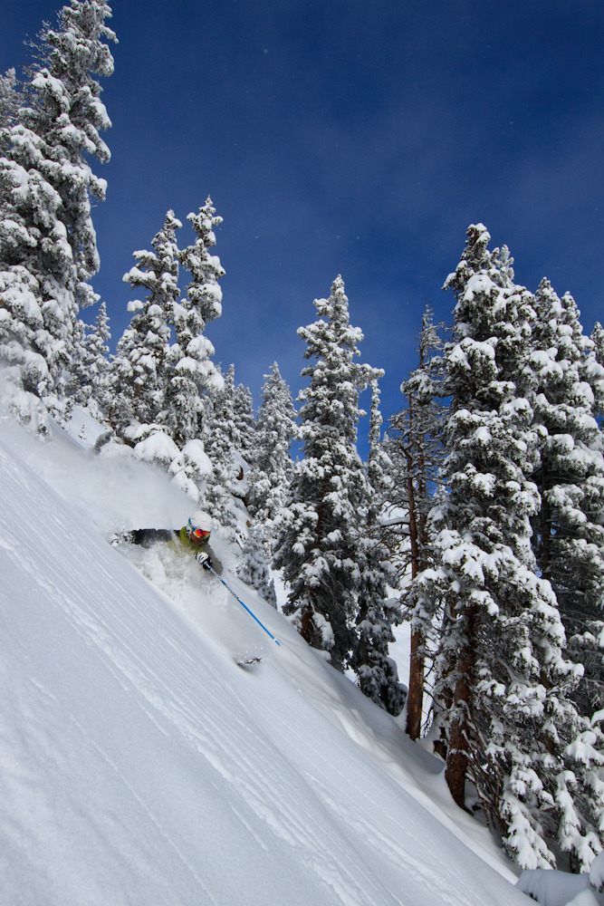 Taos boasts 3,274 vertical feet of prime terrain...lift served skiing has a respectable 2,612 vertical drop. Phto by Liam Doran