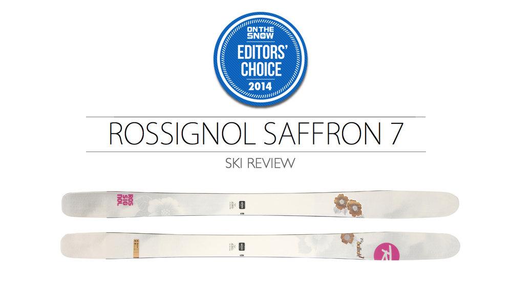2014 Women's All-Mountain Editors' Choice Ski: Rossignol Saffron 7