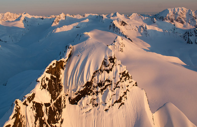 Dean Cummings' First Descent on Mount Francis near Valdez, Alaska, April 2012 - © Eric Layton
