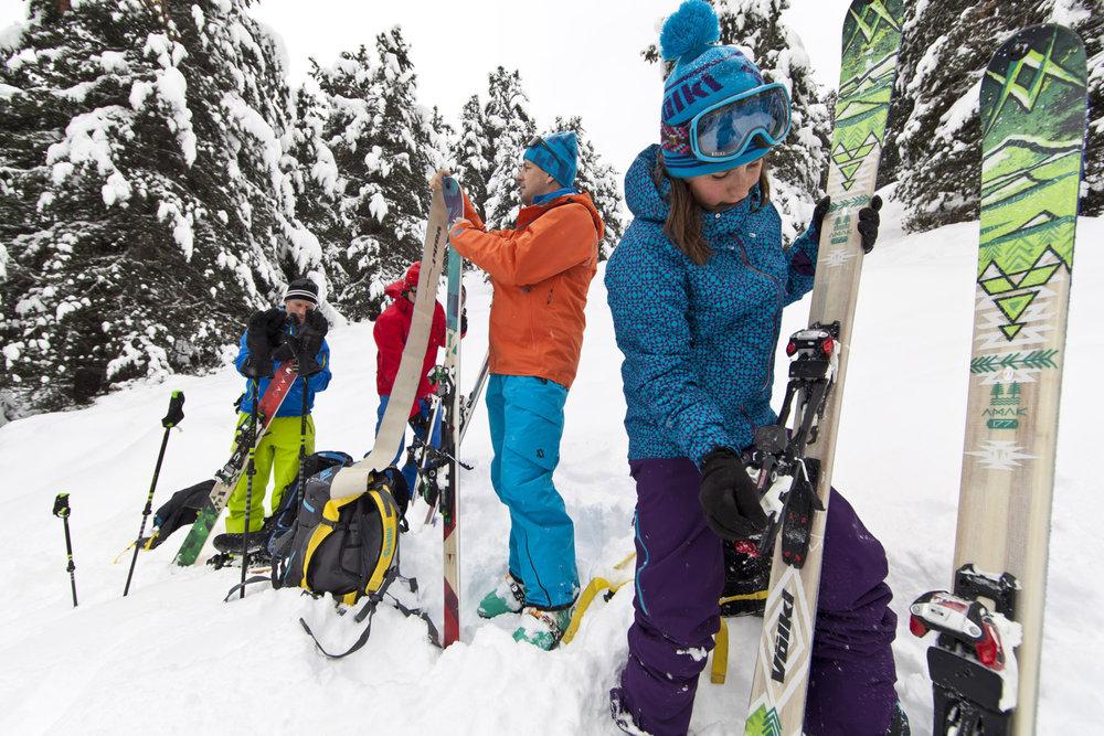 La liberté de pouvoir rider loin des pistes grâce aux skis de rando - © Volkl / Anton Brey