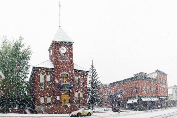 A solid early snow fell in Telluride