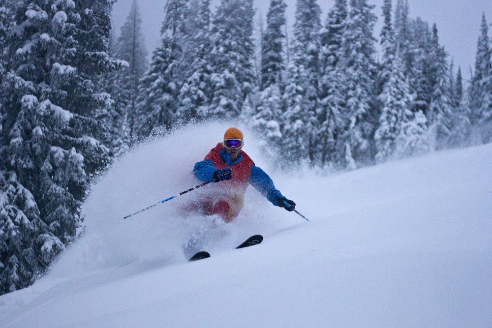 Stoked on the recent snow in Jackson Hole, with more than 18 inches in the last three days.