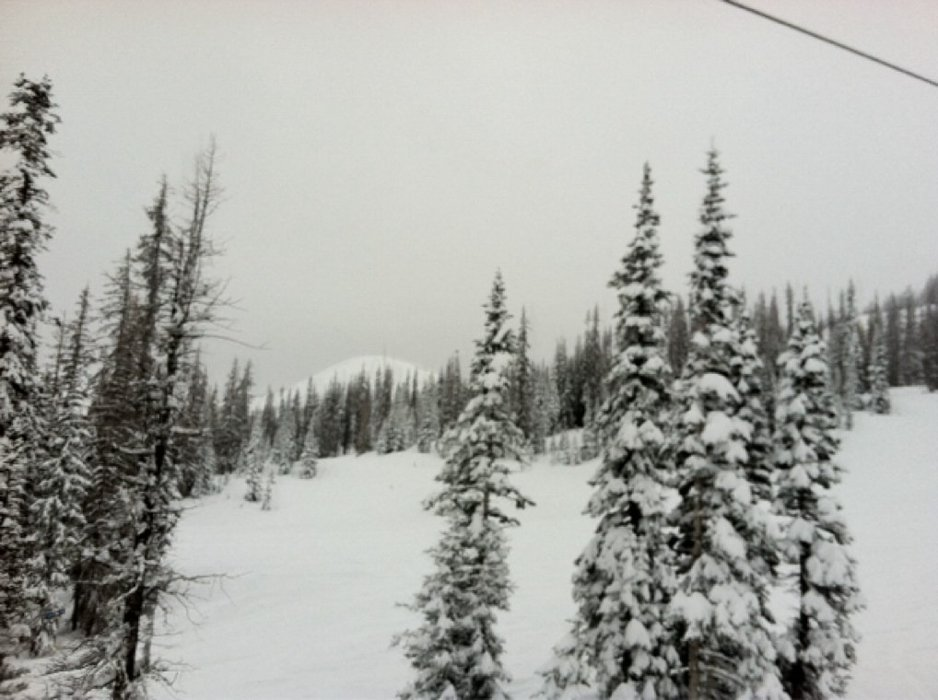 Lots of deep powder in the more difficult sops and Alberta side. That new high speed quad is great.