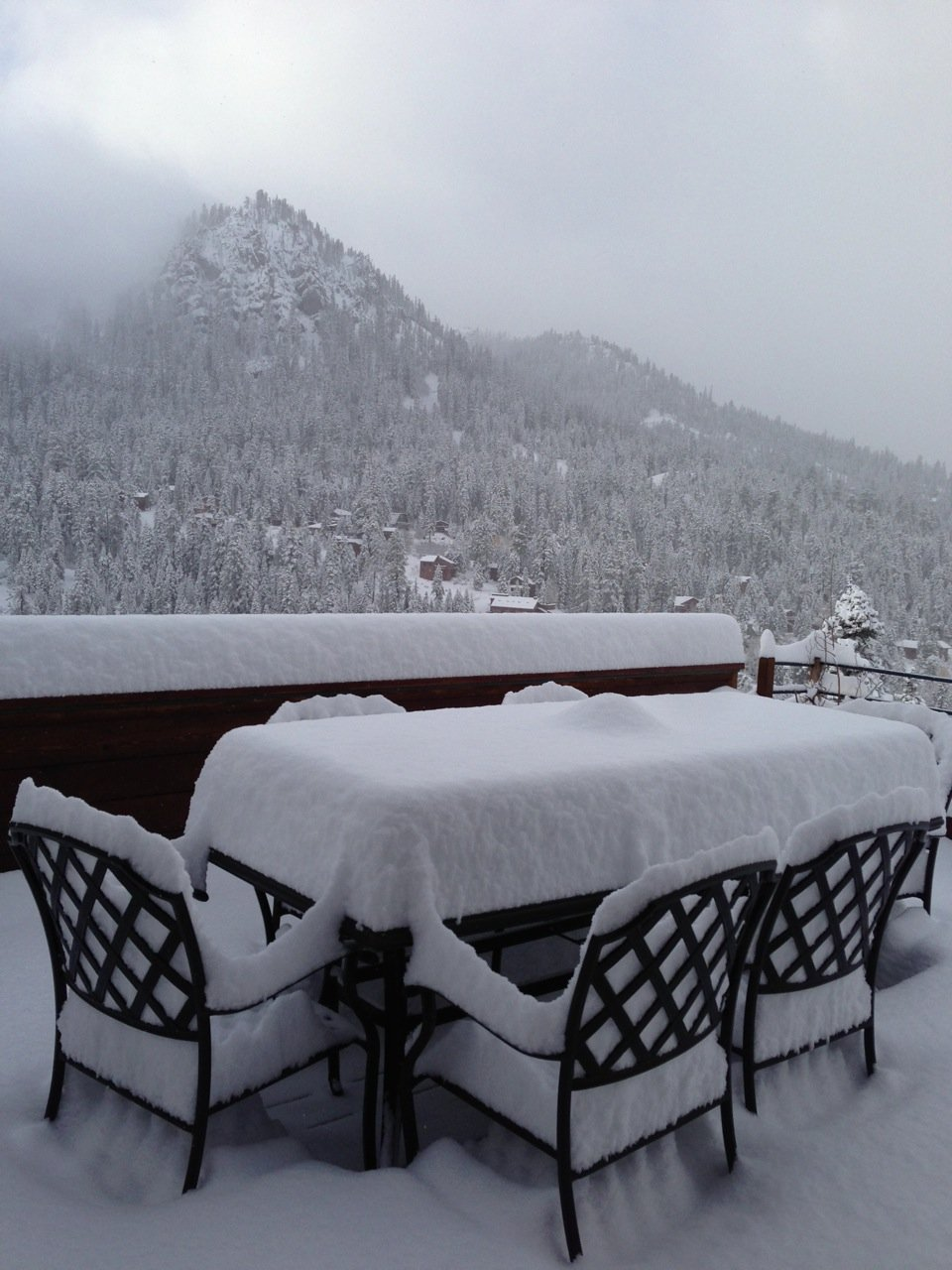 First snowfall of the season back home in Alpine Meadows, October 26th, 2013.  - ©Travis Ganong