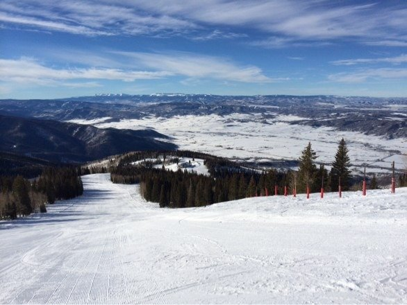 Beautiful first day in Steamboat! Great conditions for opening day with good coverage all over the open runs.