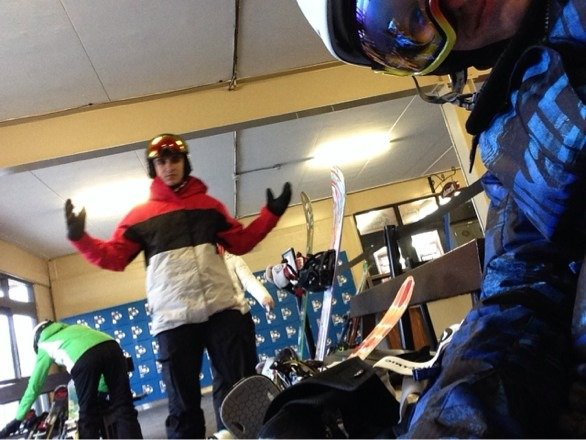 Ready to hit the slopes...12 open not crowded