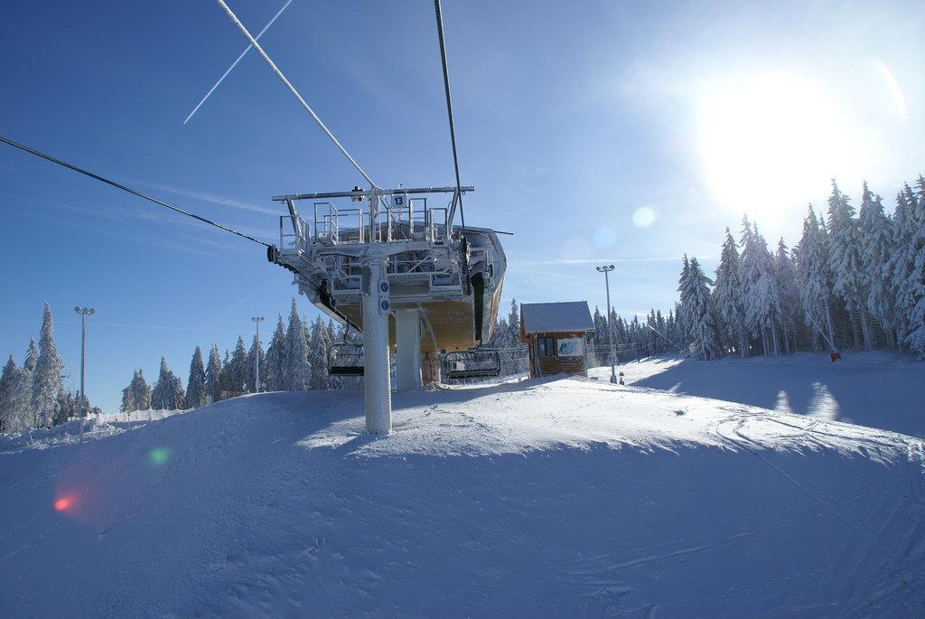 Sur le domaine skiable du Lac Blanc - © OT Vallée de Kaysersberg