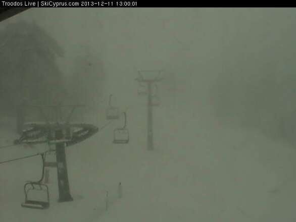 latest snow report from troodos