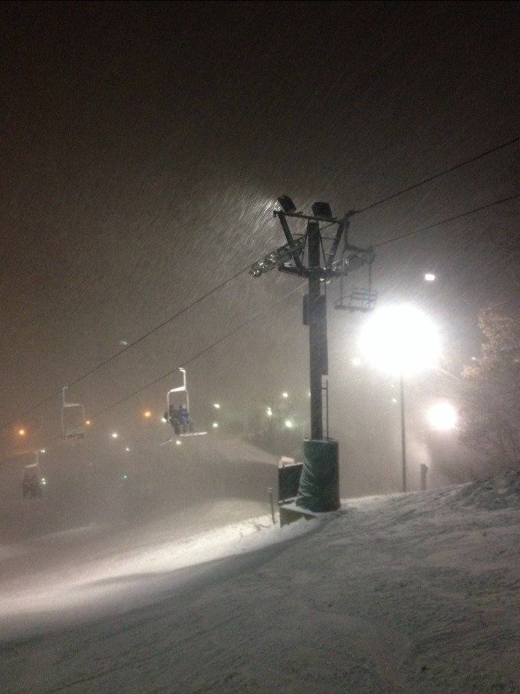 good out there last night guns were pumping snow. Should have the runs open soon
