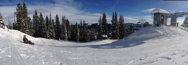 Awesome bluebird day. Lots of untracked powder.