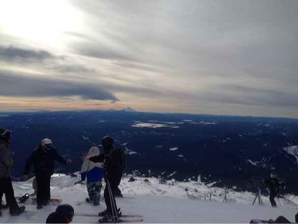 Snow was good with ice off the trails. Overall great day and stormin opened up.