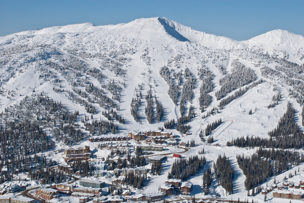 An aerial view of Big White Ski Resort. Courtesy of Big White Resort