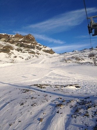 Perfect day. Snow good. All pistes open.