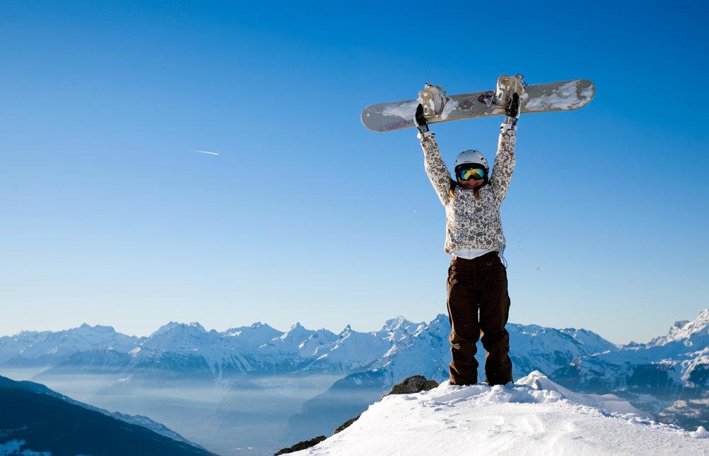 Snowboard à Nax/Mont-Noble - © Mont-Noble Tourisme