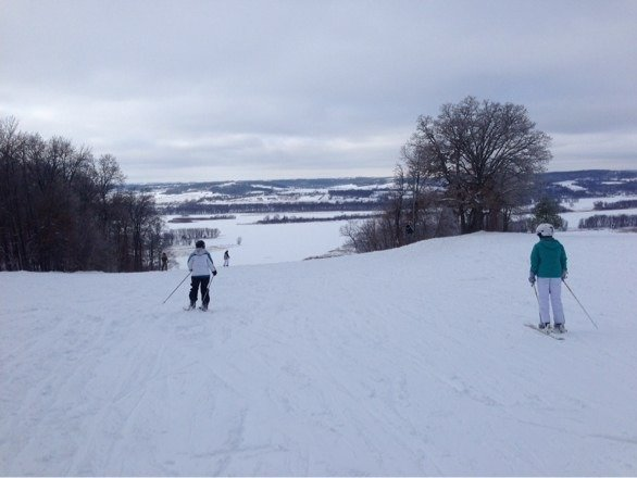 Great day- fresh powder and not crowded at all.  Photo is from December 22nd.  Area is larger than the trail map implies.
