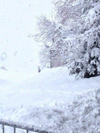 Leider sehr windig und kaum Sicht. Aber reichlich Schnee.