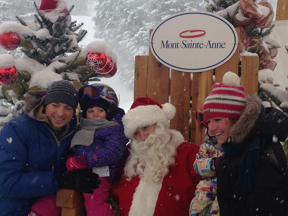 Photos with Santa - © Mont-Sainte-Anne