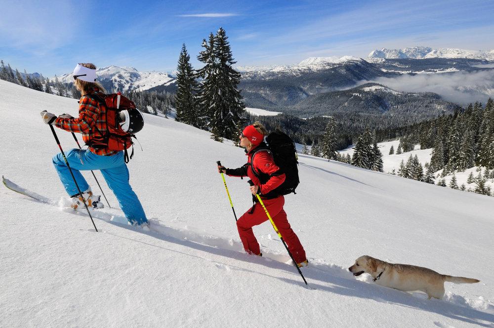 Skitourengeher bei der Winklmoosalm - © Norbert Eisele-Hein