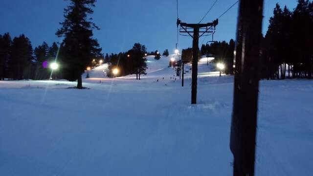 visited  saturday, coverage was good, no rocks, never stood in line, friendly staff, 3 runs of untouched corduroy n some powder stashed in trees. impressed with local hill and will return bc $39 for full day n night skiing beats $70 worth of crowd.