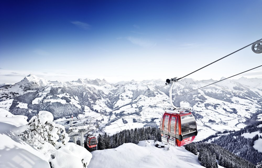 Far-reaching views from the Hahnenkammbahn in Kitzbuehel.  - © Credit Bernhard Spoettl