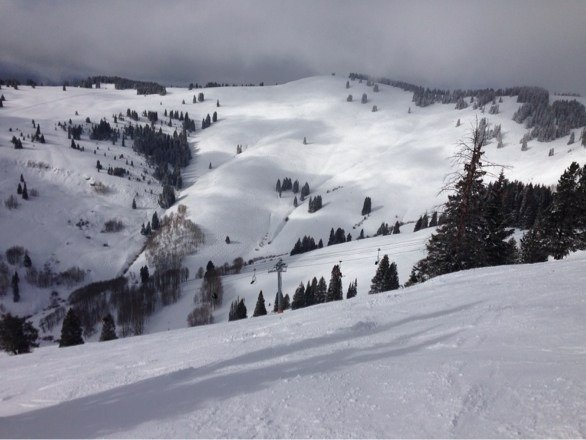 Great day skiing the bowls! Nice cover of powder...