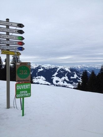 View from the top of Mont D'Arbois this morning