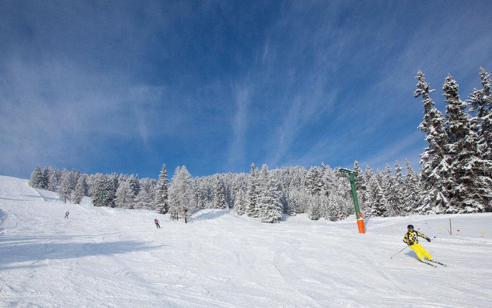 Soleil, neige douce... La journée s'annonce parfaite sur les pistes de ski de Thyon - © Thyon-Région Tourisme