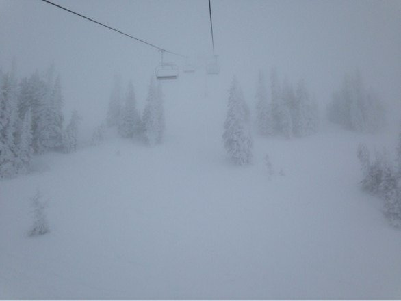 Awesome day yesterday! Low visibility at the top. Love the mountain!