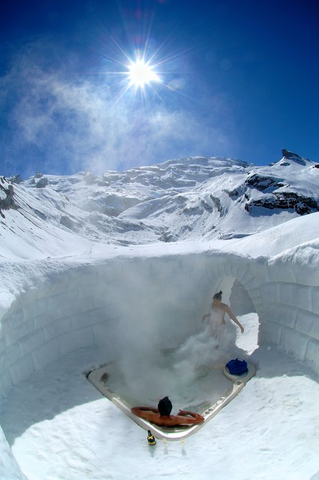 Iglu, Whirlpool, Wellness, Paar, Dampf;Igloo, Whirlpool, Wellness, Couple, Steam;