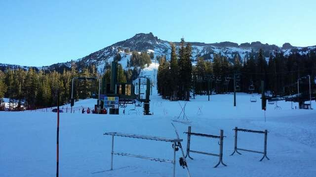 Very little snow. The runs that were open were hard packed but overall I had fun. We went to heavenly but conditions looked worse than Kirkwood. Great service made it an enjoyable trip
