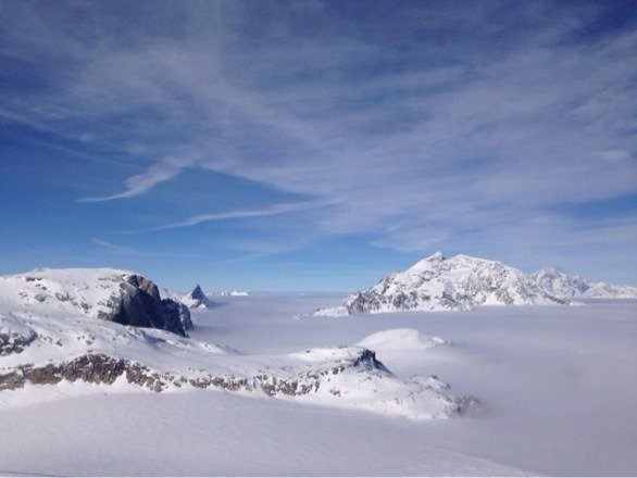 Gorgeous day! Visibility good, great ski conditions