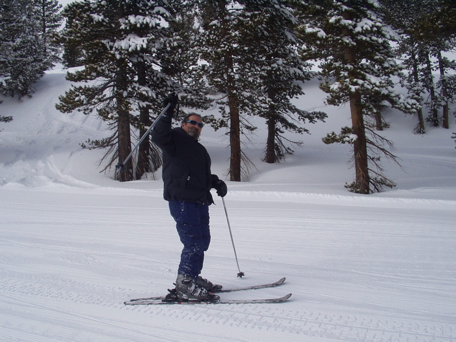 A skier at Mt. Rose, Nevada