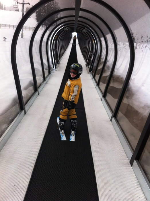 Kids have mini adventures on the covered Caterpillar lift at Monarch Mountain. - © Eleanor Williamson