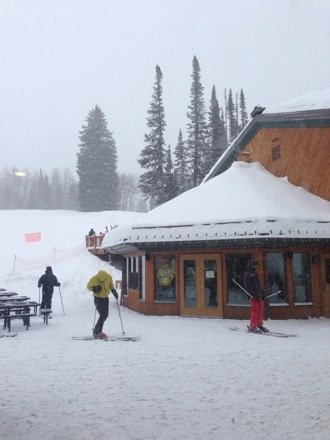 Absolutely dumping right now. Fresh tracks every run. White out conditions. Tomorrow's gonna be epic.