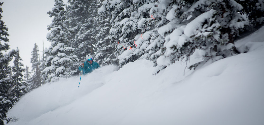 Deep powder in-bounds at Snowmass. - ©Jeremy Swanson