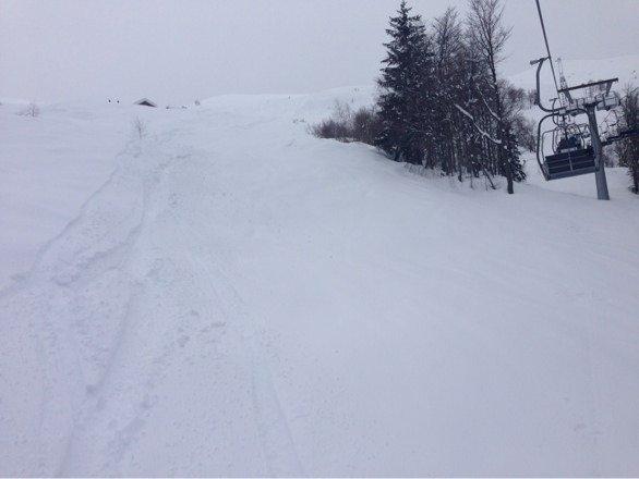 Spettacolo il bimella!! Visibilità discreta pomeriggio nevicava! Mera non tradisce