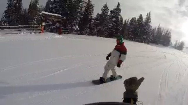 Dave can't get enough of the green groomers