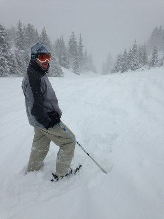 Deep pow!!No visibility on Imperial or 6 but plenty of stashes. No lift lines.