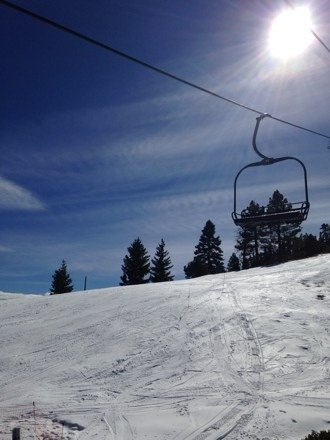 Good in the morning, slushy in the afternoon, warm weather. No lift lines and open runs