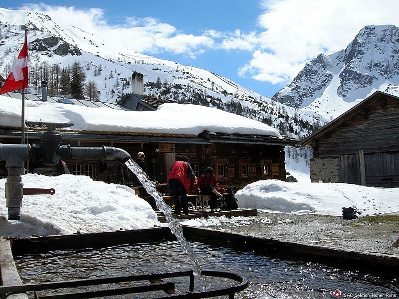 Hüttenidyll in den Graubündner Bergen - © SAC Sektion Hoher Rohn