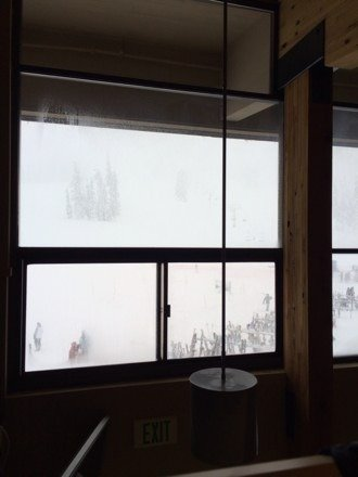 White out conditions.  Ungroomed and extremely cold.  Headed out not alot of people