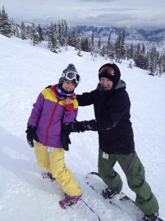 Best day yesterday! Great snow lots of good powder in the trees... Oh and got engaged at the top of Stairway!