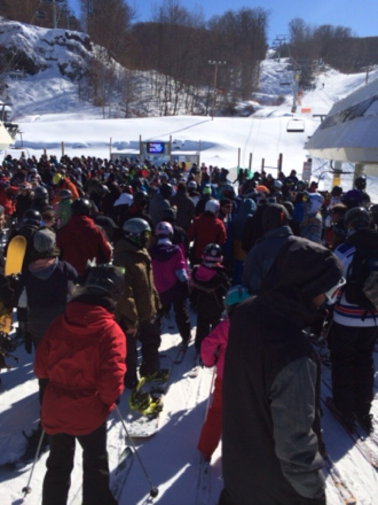 Great snow !!!  Lines were long but went rather quickly..  $3 S.A. Rebel IPA special