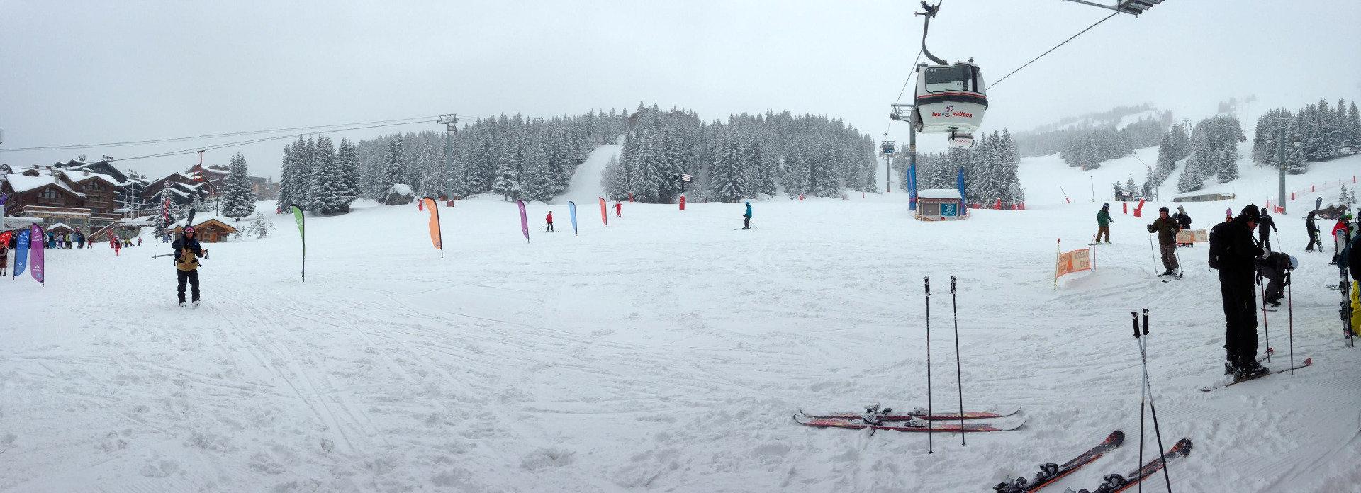 20 cm verse sneeuw in Courchevel op 14 januari 2014