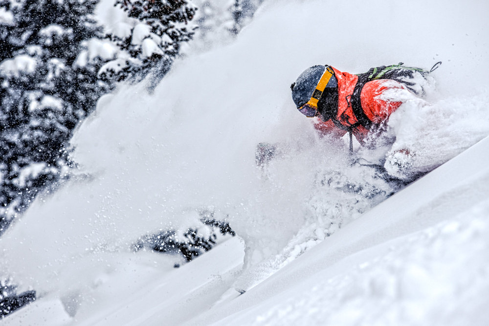 Adam Moszynski gets deep at Highlands. - © Liam Doran